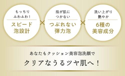 【RF28 クリーミーフォームウォッシュ EX】濃密!クッション美容泡洗顔